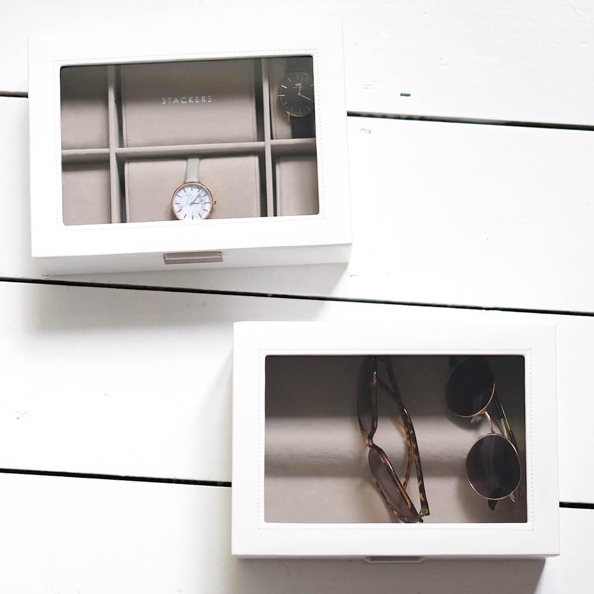 pudełka na zegarki i okulary