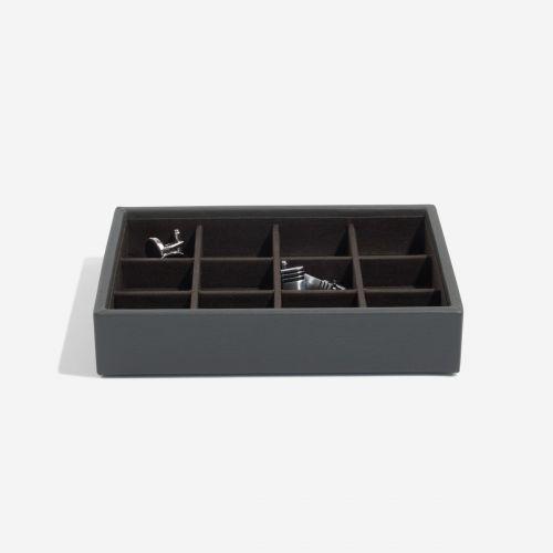 pudełko na spinki do mankietów Mini antracytowe
