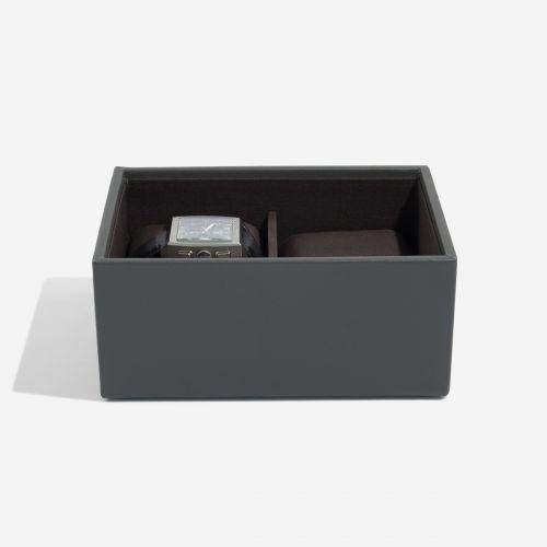 pudełko na zegarki Mini antracytowe