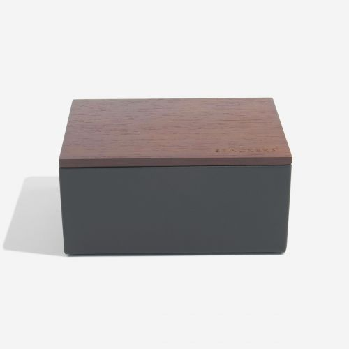 pudełko na zegarki z pokrywką Mini antracytowe
