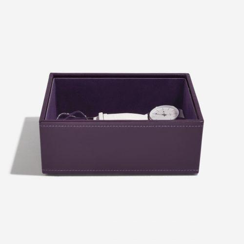 pudełko na biżuterię i zegarki Mini fioletowe