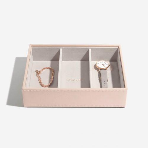 pudełko na biżuterię i zegarki Deep pudrowe