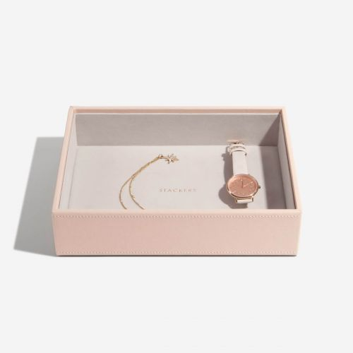 pudełko na biżuterię Chunky Classic pudrowe
