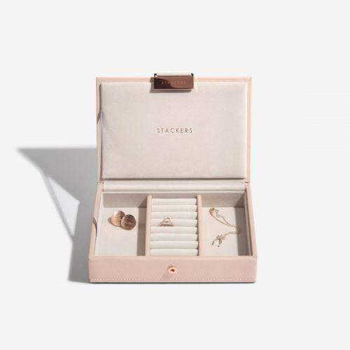 pudełko na biżuterię z pokrywką Mini pudrowe