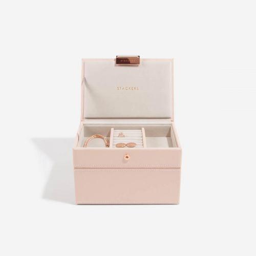 pudełko na biżuterię Mini pudrowe