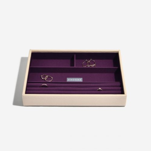 pudełko na pierścionki i bransoletki Classic kremowe