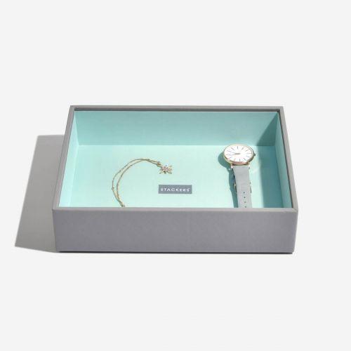 pudełko na biżuterię Chunky Classic szaro-miętowe