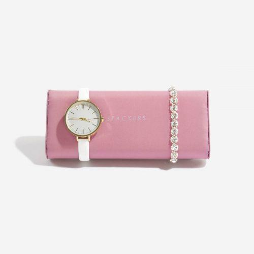 poduszka na zegarki i bransoletki ciemnoróżowa