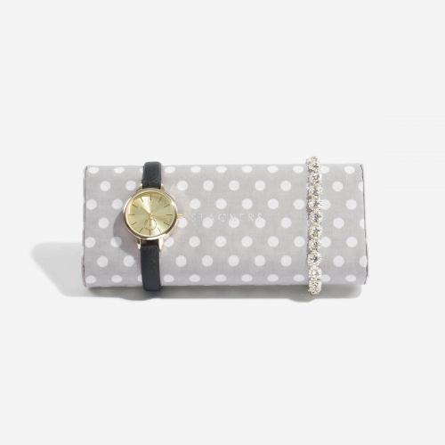 poduszka na zegarki i bransoletki w grochy