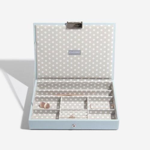 pudełko na biżuterię z pokrywką Classic w grochy