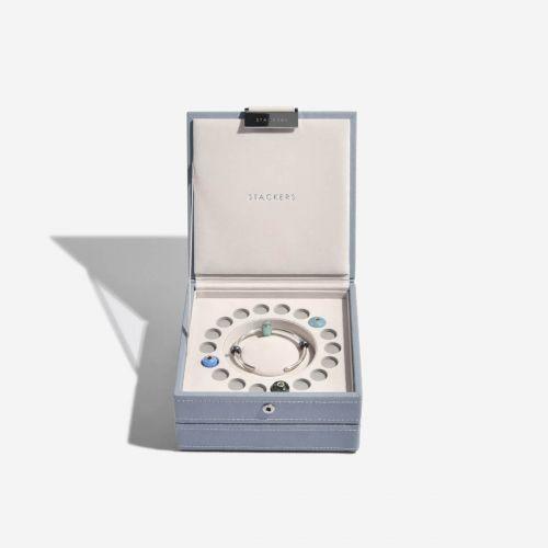 pudełko na biżuterię Charm szaroniebieskie