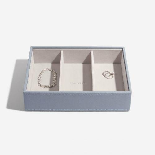 pudełko na biżuterię i zegarki Deep szaroniebieskie