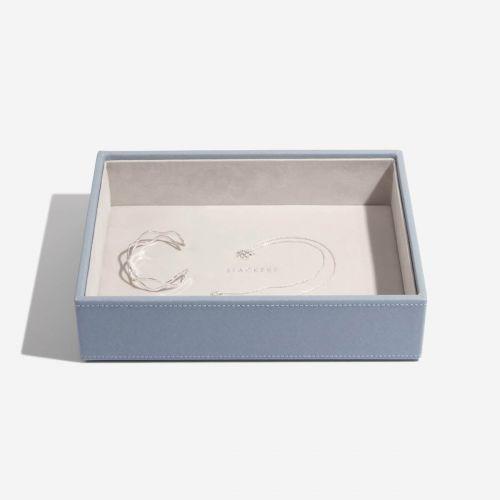 pudełko na biżuterię Chunky Classic szaroniebieskie