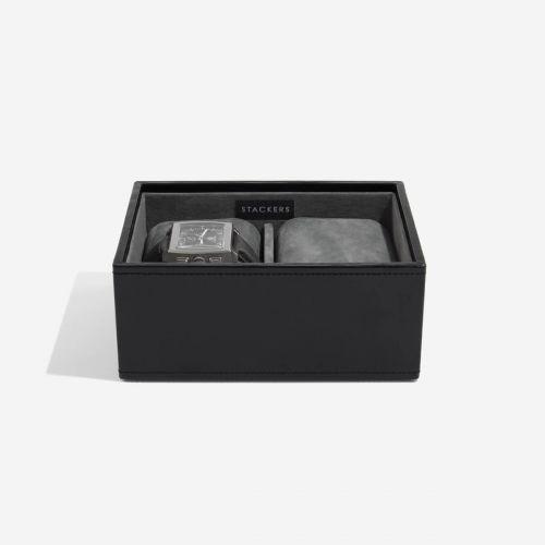 pudełko na zegarki czarne
