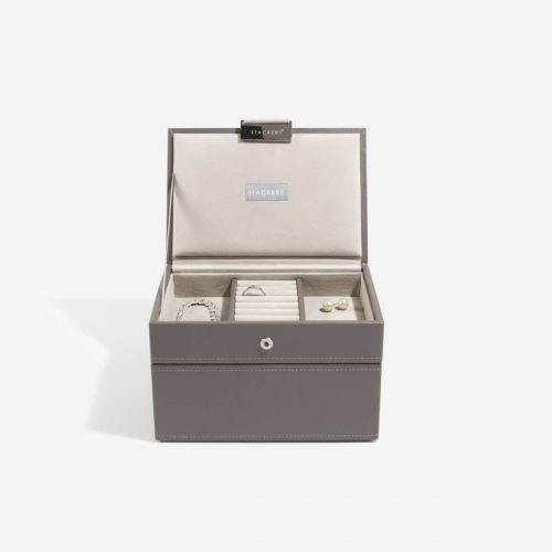pudełko na biżuterię Mini szarobeżowe