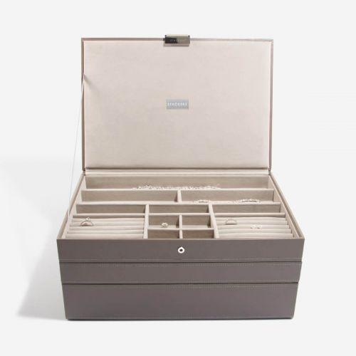 pudełko na biżuterię Supersize szarobeżowe