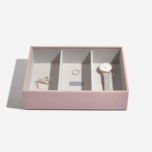 pudełko na biżuterię i zegarki Classic jasnoróżowe