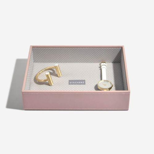 pudełko na biżuterię Chunky Classic jasnoróżowe