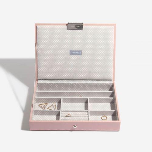 pudełko na biżuterię z pokrywką Classic jasnoróżowe