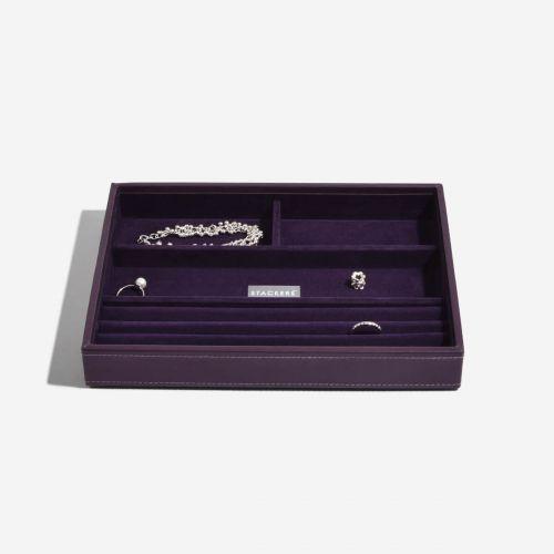 pudełko na pierścionki i bransoletki Classic fioletowe