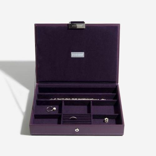 pudełko na biżuterię z pokrywką Classic fioletowe