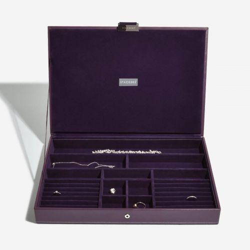 pudełko na biżuterię z pokrywką Supersize fioletowe