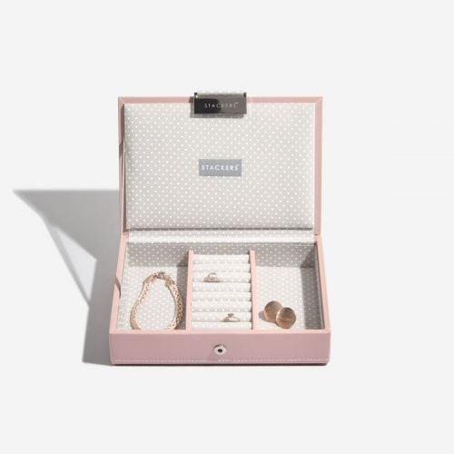 pudełko na biżuterię z pokrywką Mini jasnoróżowe
