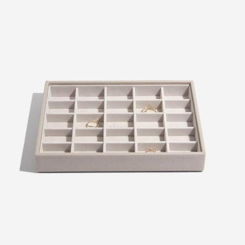 małe pudełko na drobną biżuterię Classic taupe