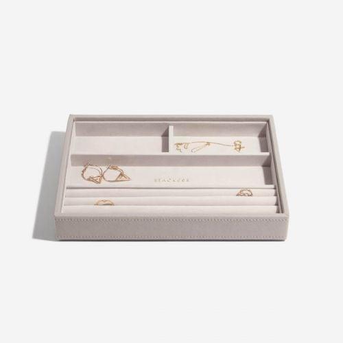 pudełko na pierścionki i bransoletki Classic taupe