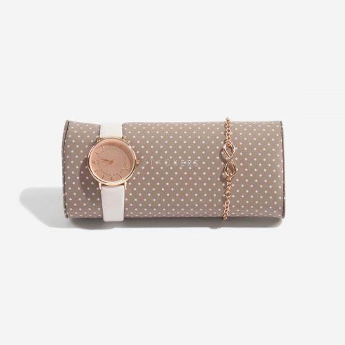 poduszka na zegarki i bransoletki mocha w kropki