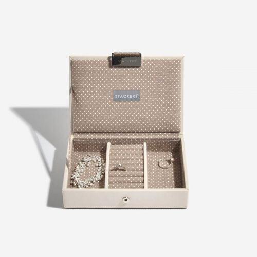 pudełko na biżuterię z pokrywką Mini waniliowe