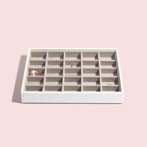 małe pudełko na drobną biżuterię Classic białe