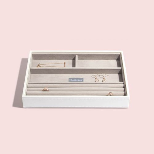 pudełko na pierścionki i bransoletki Classic białe