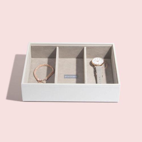 pudełko na biżuterię i zegarki Classic białe