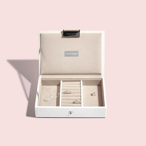 pudełko na biżuterię z pokrywką Mini białe